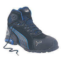 Puma Rio Mid-Safety Trainer Boots Black Size 9