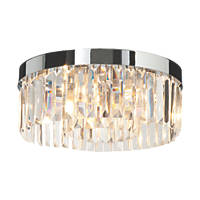 Saxby Crystal Bathroom Ceiling Light Chrome G9 90W