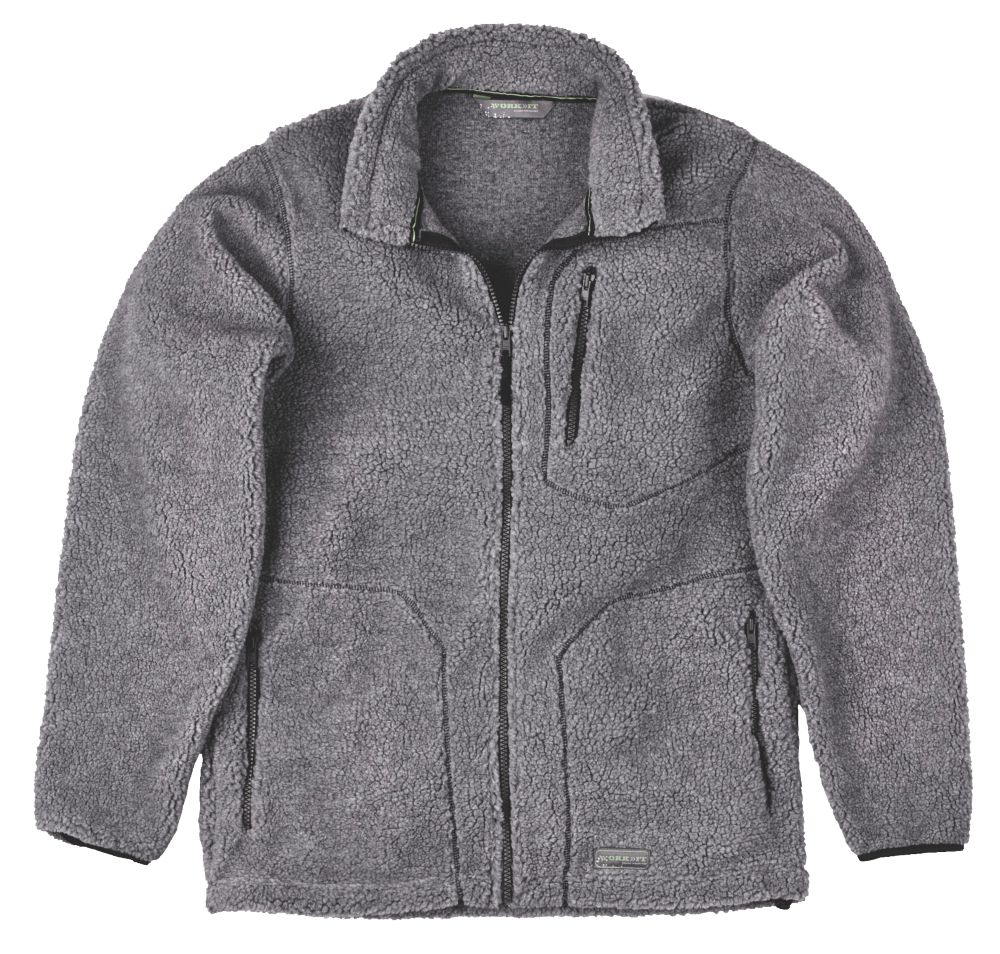 "Work-It Sherpa Jacket Grey Medium 40-42"" Chest"