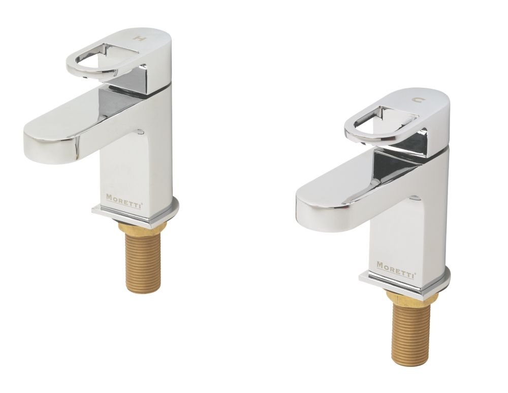Moretti Oceano Bathroom Basin Taps Pair
