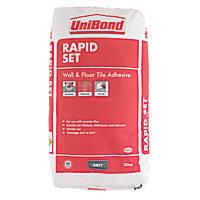 Unibond Rapid Set Wall & Floor Tile Adhesive Grey 20kg