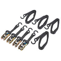 Ratchet Straps with +S Hooks  5m x 27mm 4 Pack