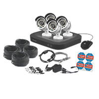 Swann SWDVK-847504 8-Channel 3MP Super HD DVR Security System & 4 Cameras 5 Pieces
