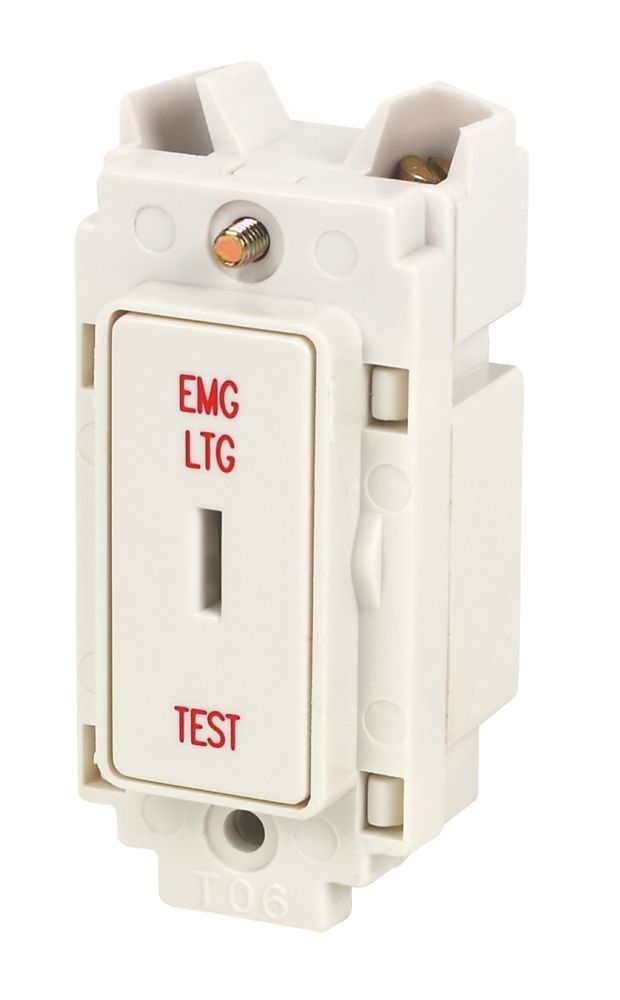Crabtree 20A 1-Way Key Switch Marked Emergency Light Test