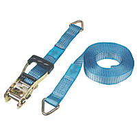 Ratchet Strap with D Ring 8m x 50mm
