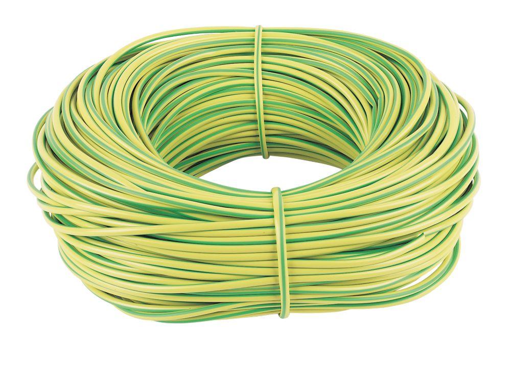 PVC Sleeving 4mm x 100m Green/Yellow
