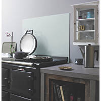 Silver Self-Adhesive Toughened Glass Splashback 900 x 750 x 6mm