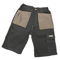 "JCB Keele Shorts Black 32"" W"