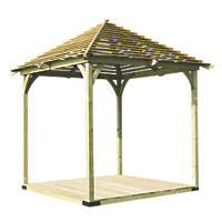 Forest Venetian Pergola 2.93 x 2.93 x 3.31m Natural Timber