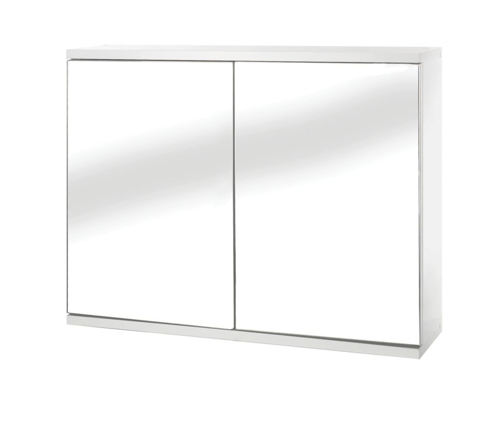 Croydex Simplicity Double-Door Bathroom Cabinet White 600 x 140 x 450mm