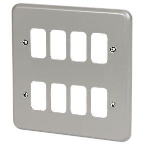 8 Module Metalclad Front Plate
