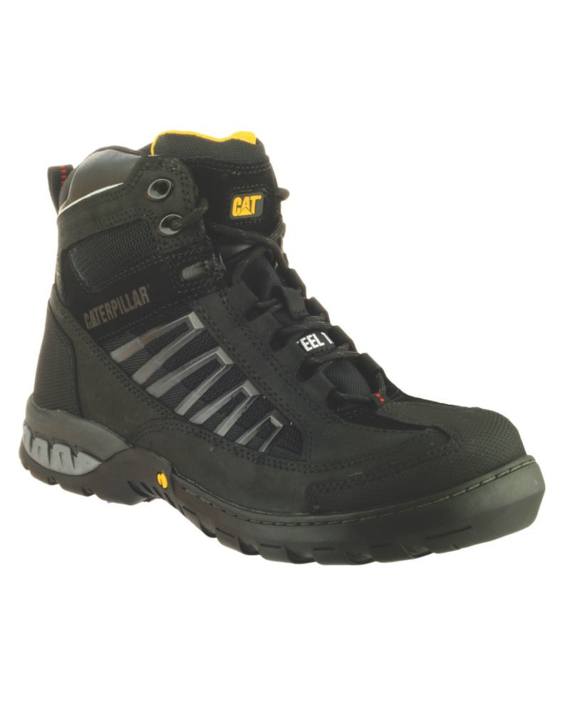 Caterpillar Kaufman Black Safety Boots Size 8