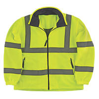 Portwest F300 Hi-Vis Mesh Lined Fleece Yellow / Orange X Large