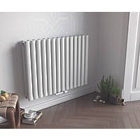 Ximax Fortuna Horizontal Double-Panel Designer Radiator White 600 x 1180mm