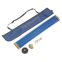 Bailey Brass Jointed Blue Drain Rod Set 13Pcs