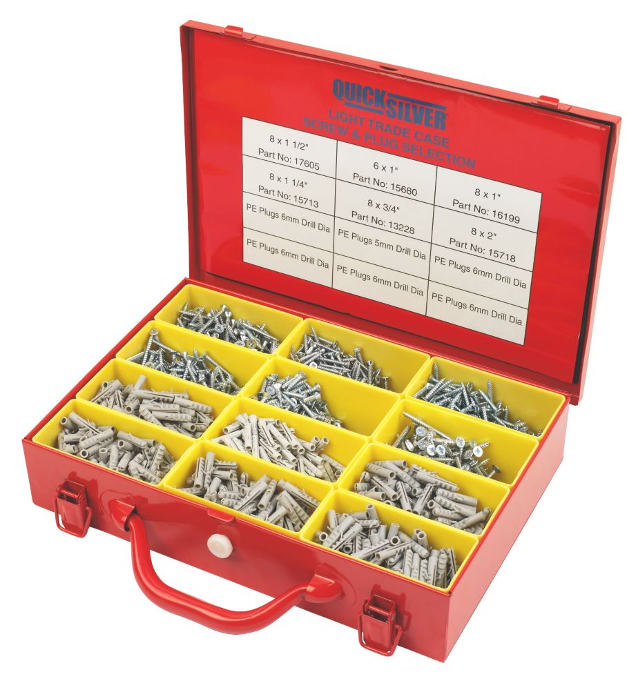 Quicksilver Handy Trade Screw & Plug Case 2000 Pieces