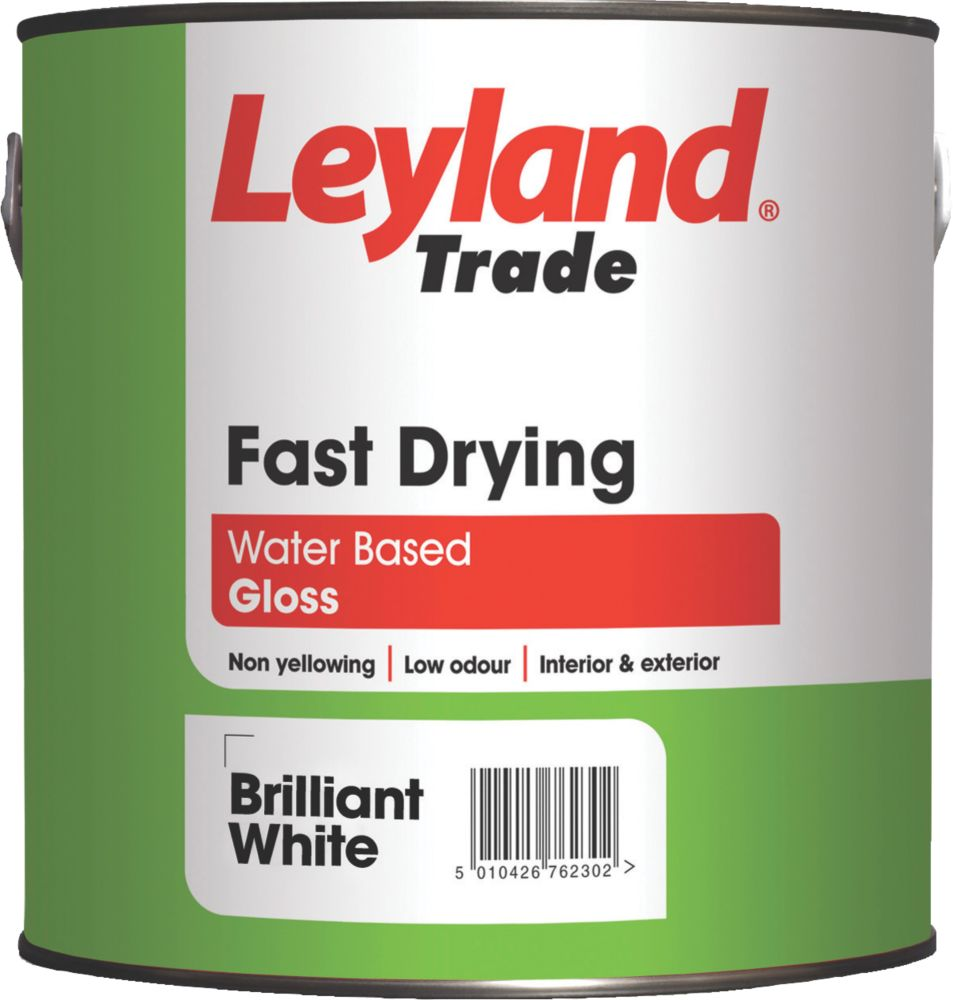 Leyland Fast Drying Gloss Paint White 2.5Ltr