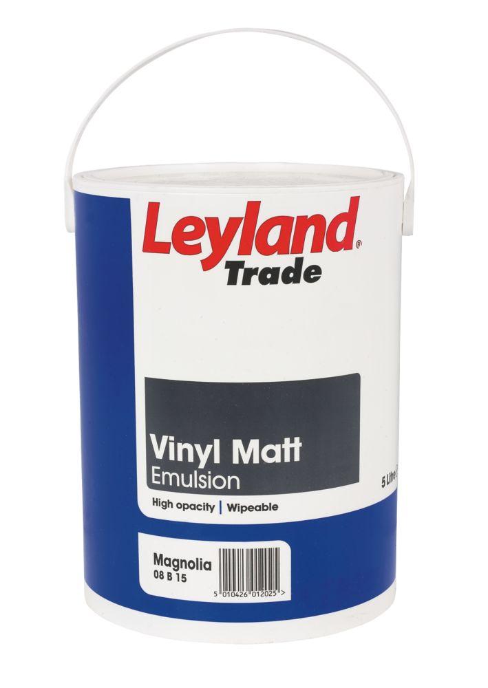 Leyland Vinyl Matt Paint Magnolia 5Ltr