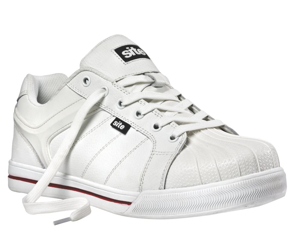 Site Shale Safety Trainers White Size 7