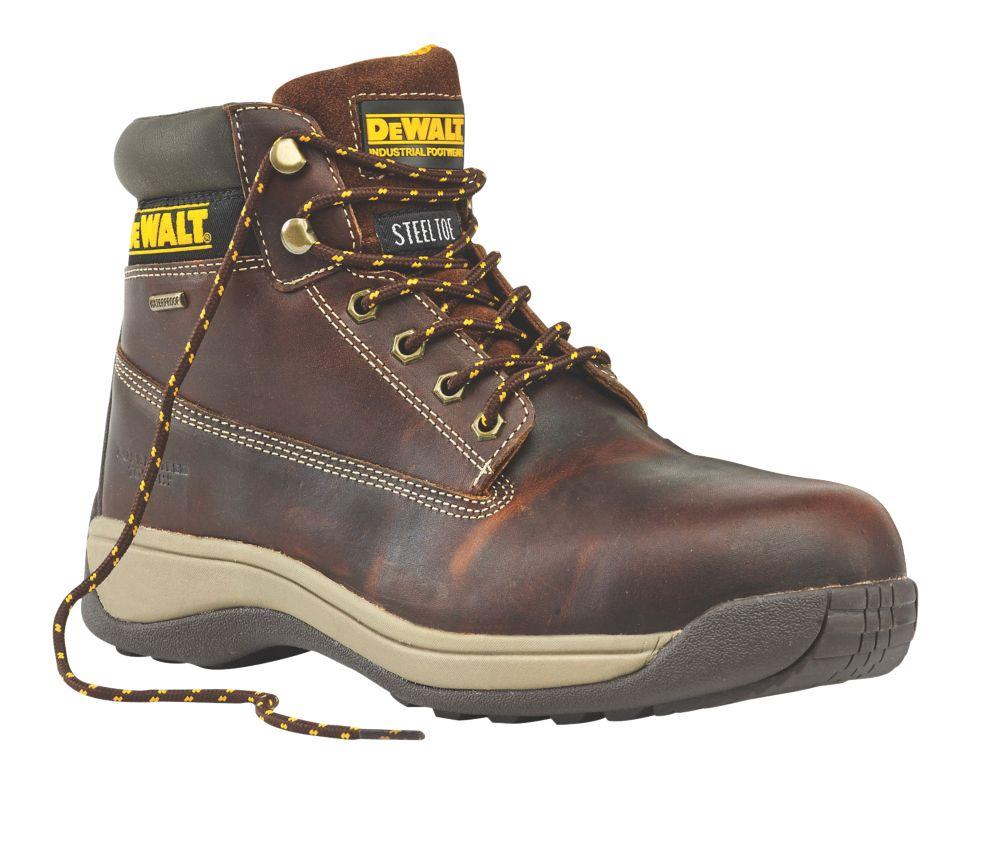 DeWalt Apprentice Galactic Safety Boots Tan Size 8