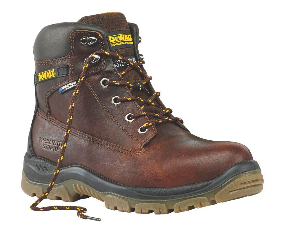 DeWalt Titanium Safety Boots Tan Size 11