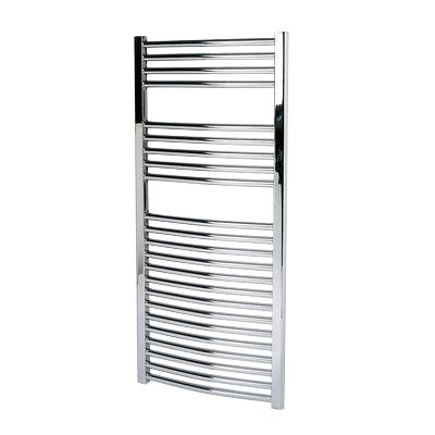 Kudox Flat Towel Radiator Chrome 500 x 1100mm 352W 1201Btu