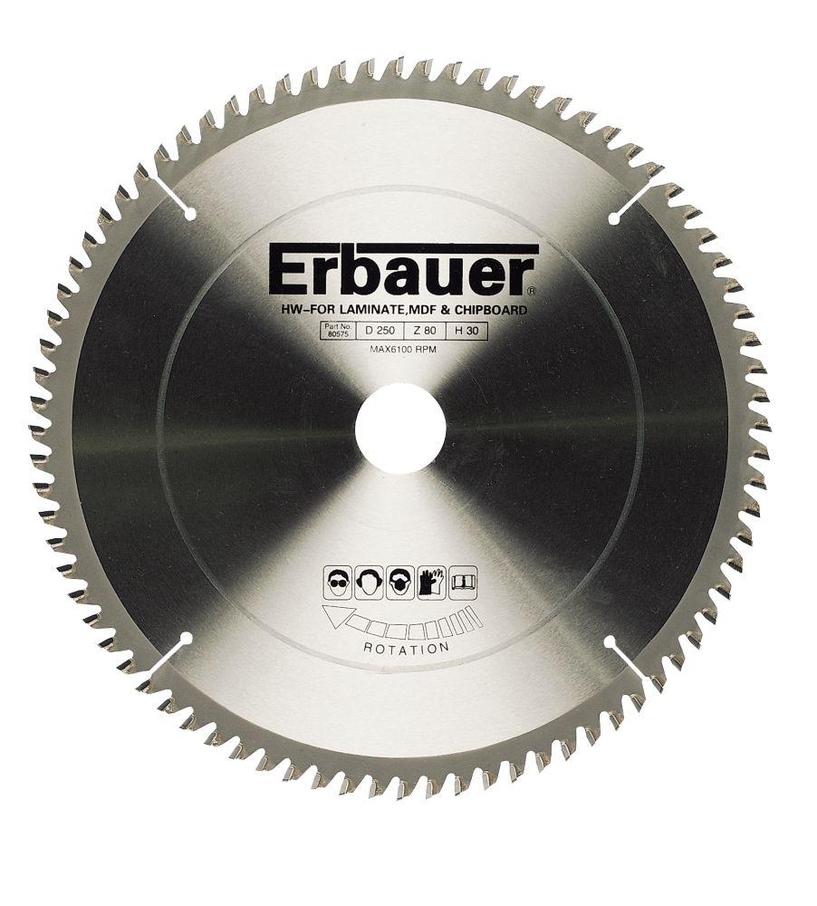 Erbauer Circular Saw Blade 80-Tooth 250mm