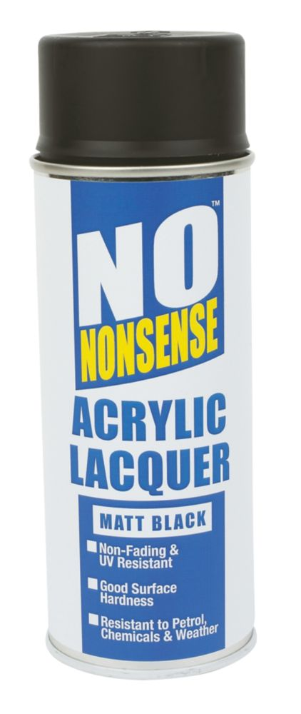 No Nonsense Acrylic Lacquer Matt Black 400ml
