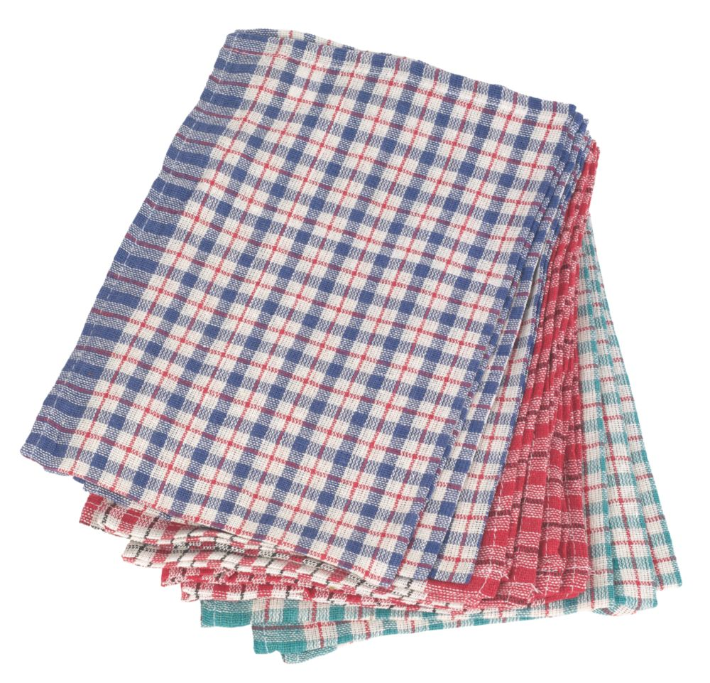 Multicoloured Tea Towels Pack of 10
