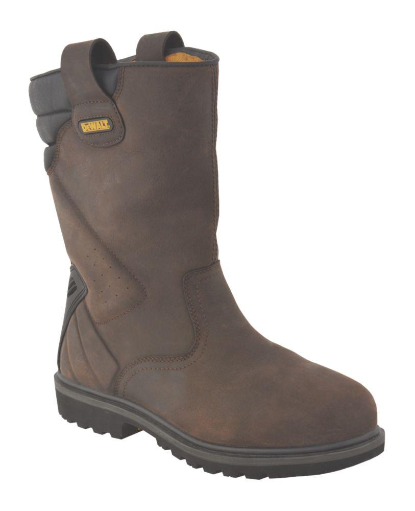DeWalt Rigger Safety Boots Brown Size 7
