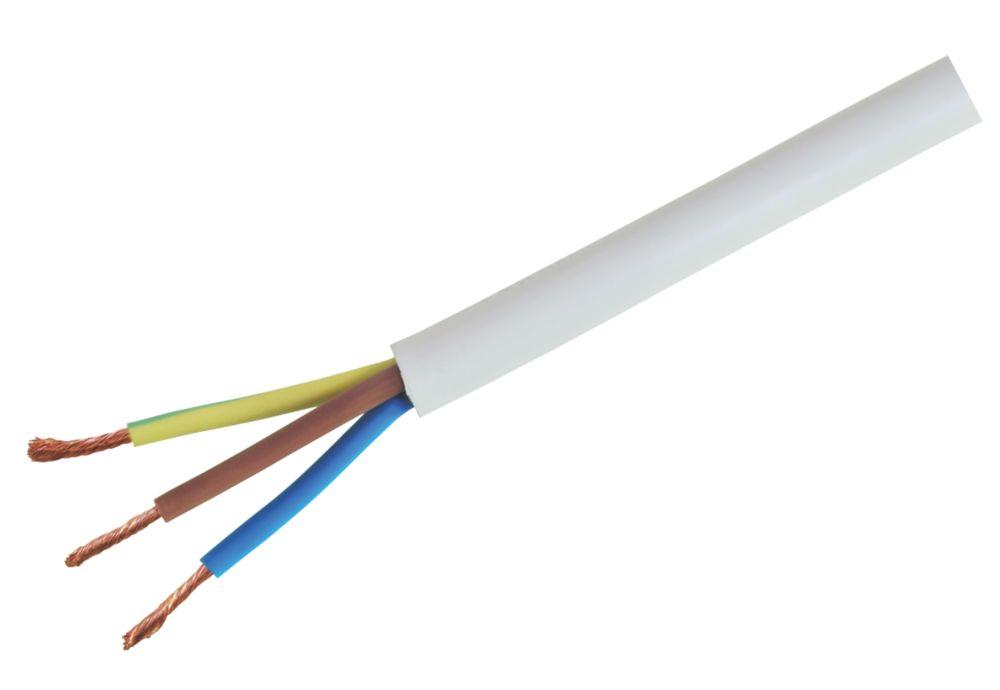 Heat Resistant Flexible Cable 3093Y 3-Core 2.5mm² x 5m White
