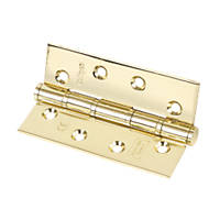 Washered Fire Hinges Electro Brass 102 x 67mm 2 Pack