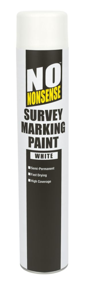 No Nonsense Survey Marking Paint White 750ml