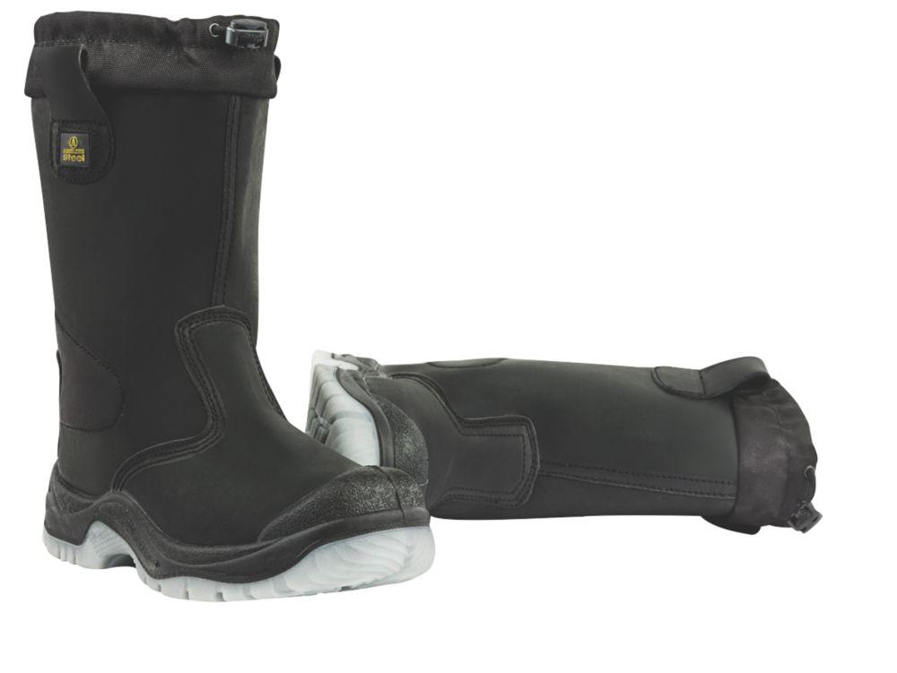Amblers Drawstring Top Rigger Boots Black Size 10