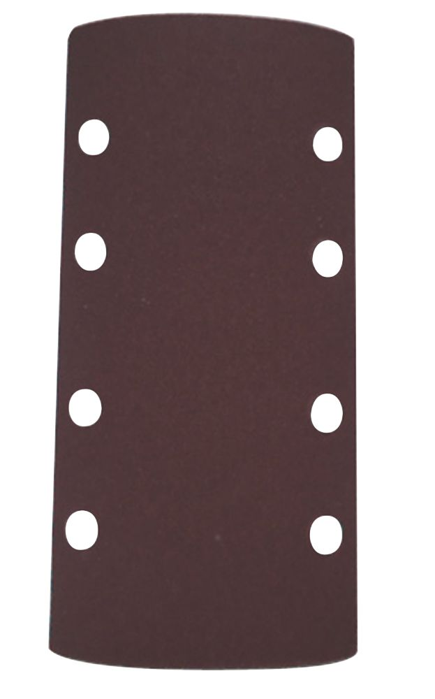 Sandpaper 1/3 Sheets Aluminium Oxide 80 Grit Punched Pack of 10