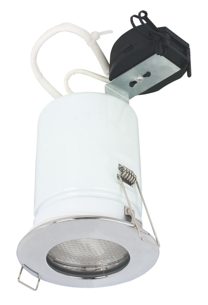 Halolite Fixed Round Polished Chrome 240V Low Energy Downlight