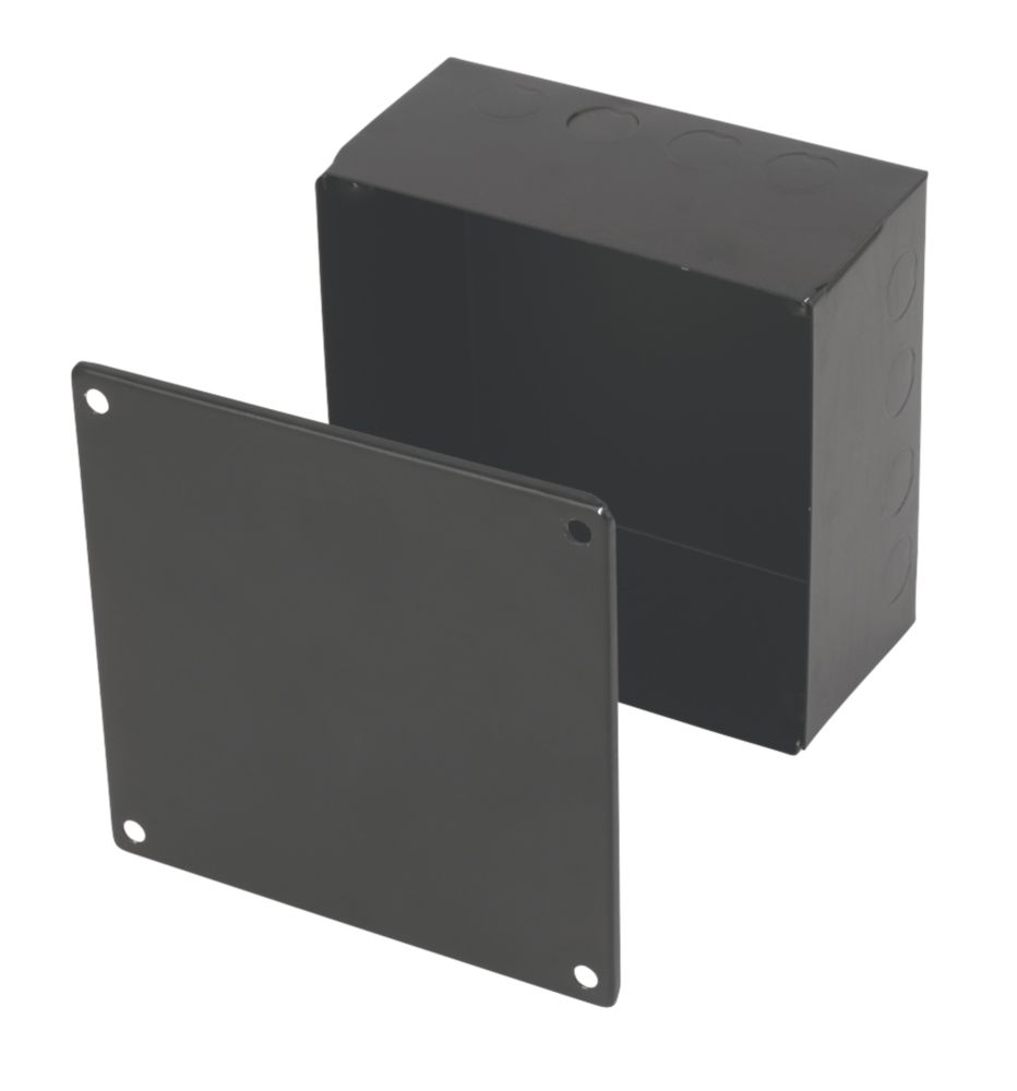 Appleby Black Adaptable Box with Knockouts 150 x 150 x 75mm