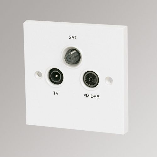 Labgear Screened Outlet Plate Triplex