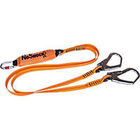Delta Plus AN213200CDD Twin Tail 2m Fall Arrest Lanyard Polyester