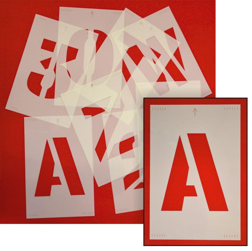 Letter & Number Stencil Pack 150mm
