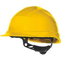 Delta Plus Quartz Up 3 Rotor Wheel Ratchet Safety Helmet Yellow