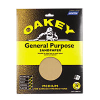 Oakey General Purpose Glass Paper Medium 230 x 280mm Pack of 5
