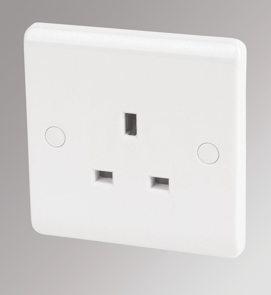 LAP 13A 1-Gang DP Unswitched Plug Socket White