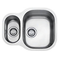 Franke Compact Square Undermount Kitchen Sink S/Steel 1½-Bowl 575 x 500mm