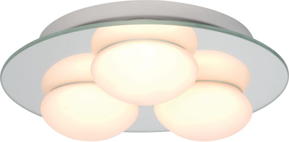 Masterlite Agra Triple Bathroom Ceiling Light Mirrored Glass 25W