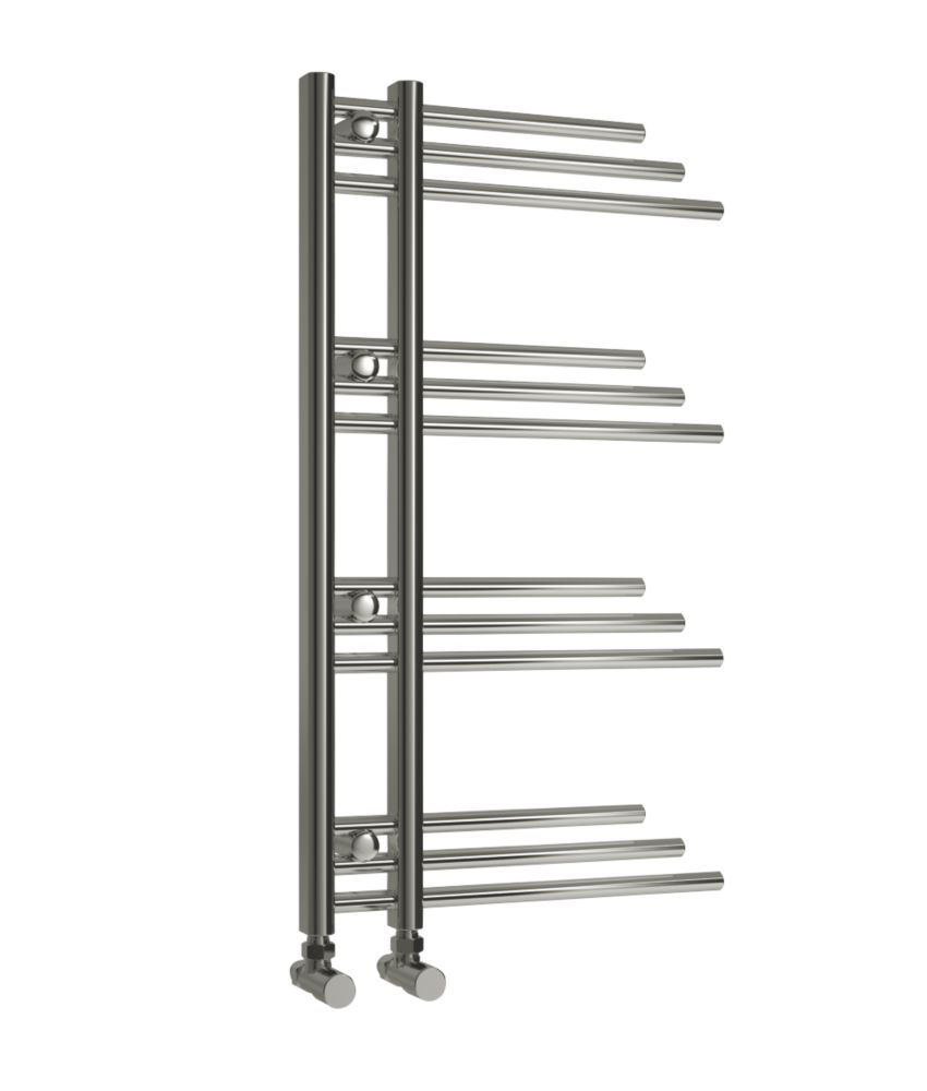 Reina Piano Vertical Designer Towel Radiator Chrome 900 x 500mm 716BTU