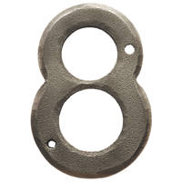Carlisle Brass Ludlow Door Numeral 8 Pewter Effect