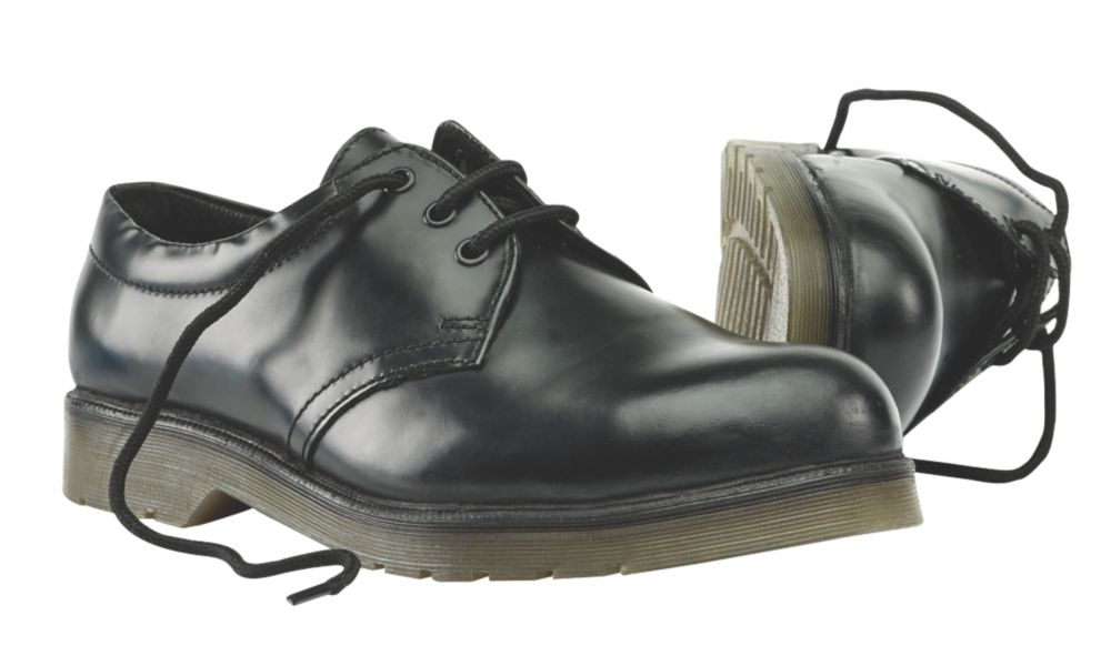 Sterling Steel Cushion Sole Safety Shoes Black Size 4