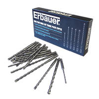 Erbauer SDS Plus Drill Bit Bulk Pack 20Pcs