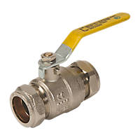 Tesla Lever Ball Valve Yellow 28mm